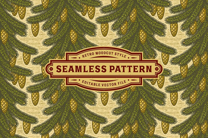 Thumbnail for Seamless spruce pattern