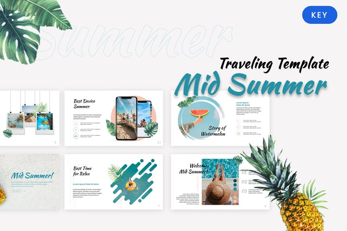 Thumbnail for Mid Summer - Traveling Keynote Template