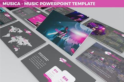 Musica - Развлечения Powerpoint Шаблон
