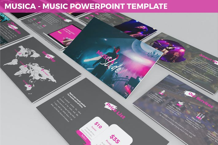 Thumbnail for Musica - Entertainment Powerpoint Template