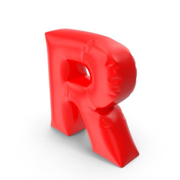 Ballonbuchstabe R
