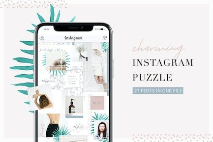 Charming Instagram Puzzle Vorlage