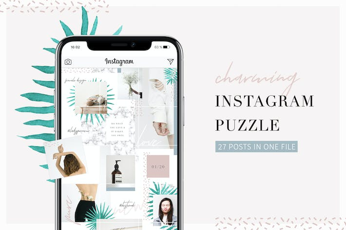 Thumbnail for Charming Instagram Puzzle Template