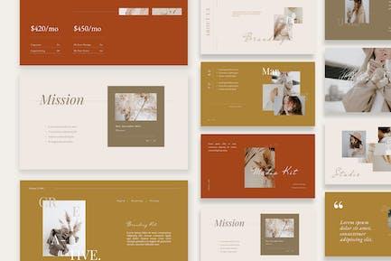 Beauty Minimalist Branding Kit Presentation