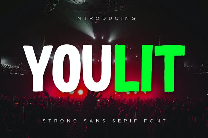 Thumbnail for Youlit - Bold Strong Sans Serif Font