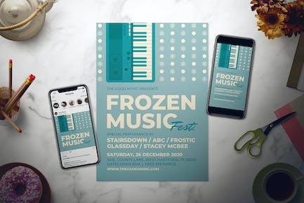Retro Winter Music Flyer Set