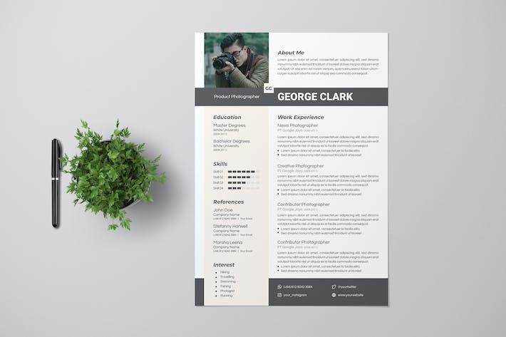 Thumbnail for Photographer Resume