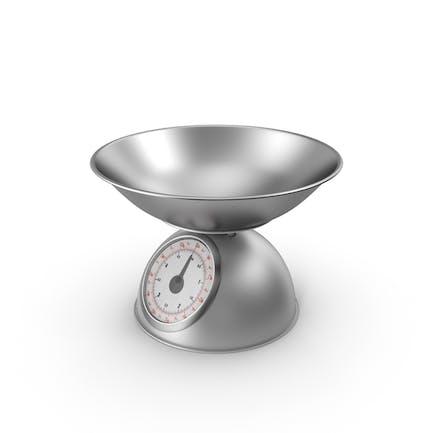 Retro Mechanische Küchenwaage Silber