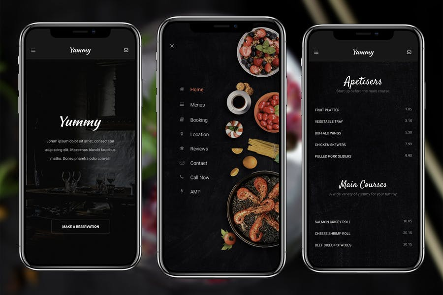 AMP Yummy Mobile | Google AMP Mobile Template