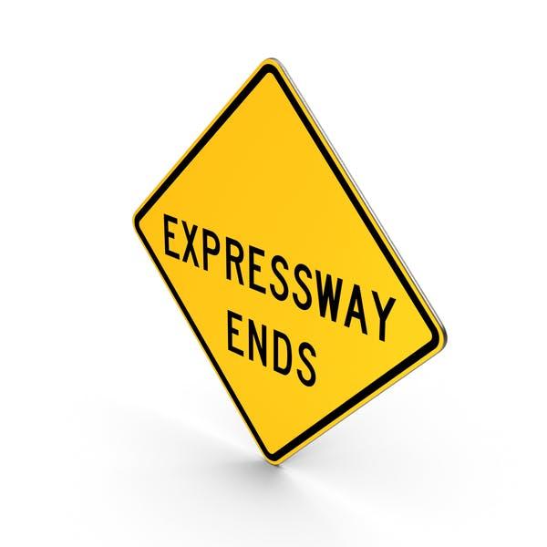 Дорожный знак заканчивается скоростной автомагистралью