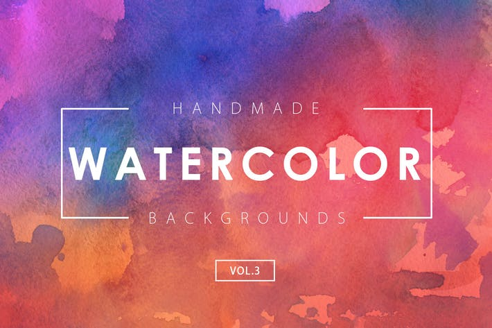 Thumbnail for Handmade Watercolor Backgrounds Vol.3