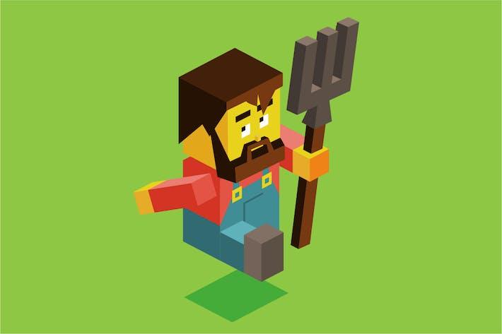 Thumbnail for Farmer holding fork