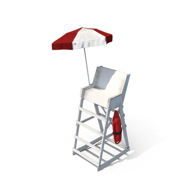 Cover Image for Lifeguard Chair with Umbrella