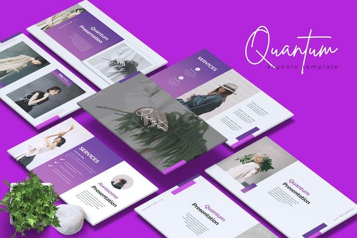 Thumbnail for QUANTUM - Company Profile Keynote Template