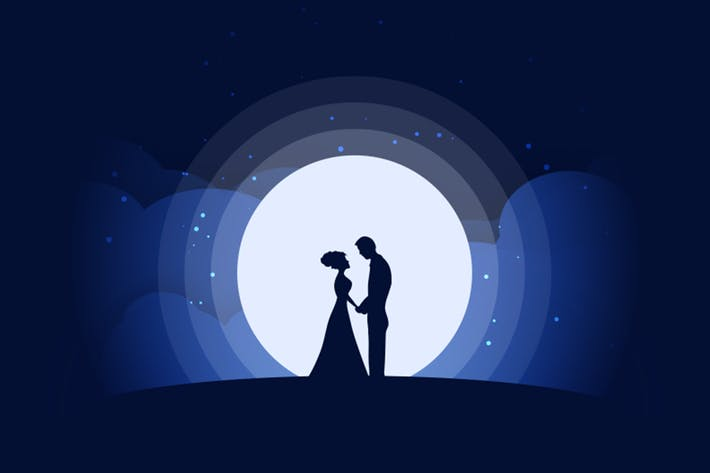 Thumbnail for Secret Date Vector illustration