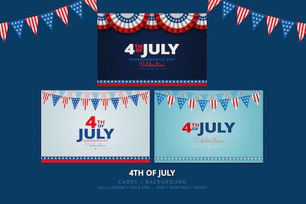4th of July Card / Backgrounds