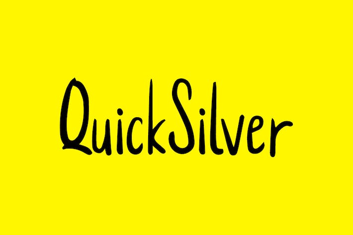 Thumbnail for QuickSilver - Cute Handmade Font