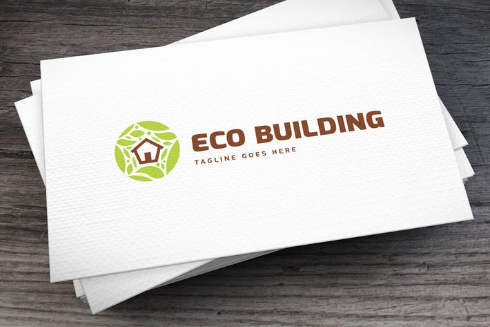 Cover Image For Eco Building Logovorlage