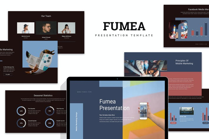 Thumbnail for Fumea : Mobile Marketing Proposal Keynote