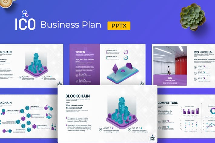 Thumbnail for ICO Business Plan Presentation PowerPoint Template