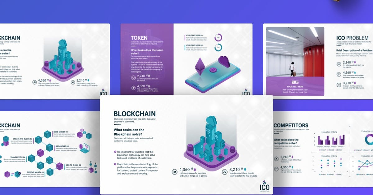Download ICO Business Plan Presentation PowerPoint Template by Premast