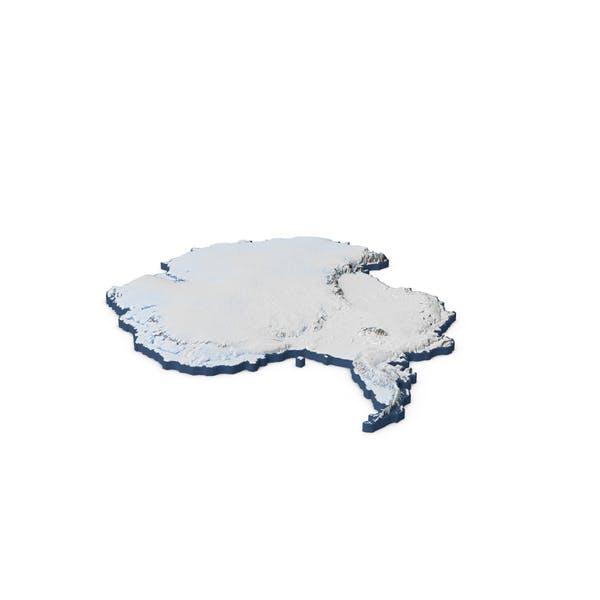 Antarktis Kontinent Karte