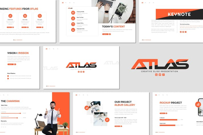 Thumbnail for Atlas - Keynote Template