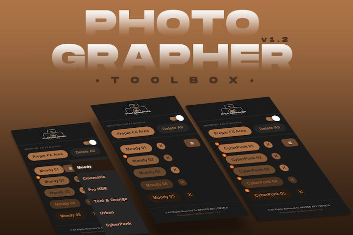 Фотографический Расширения Photoshop ToolBox