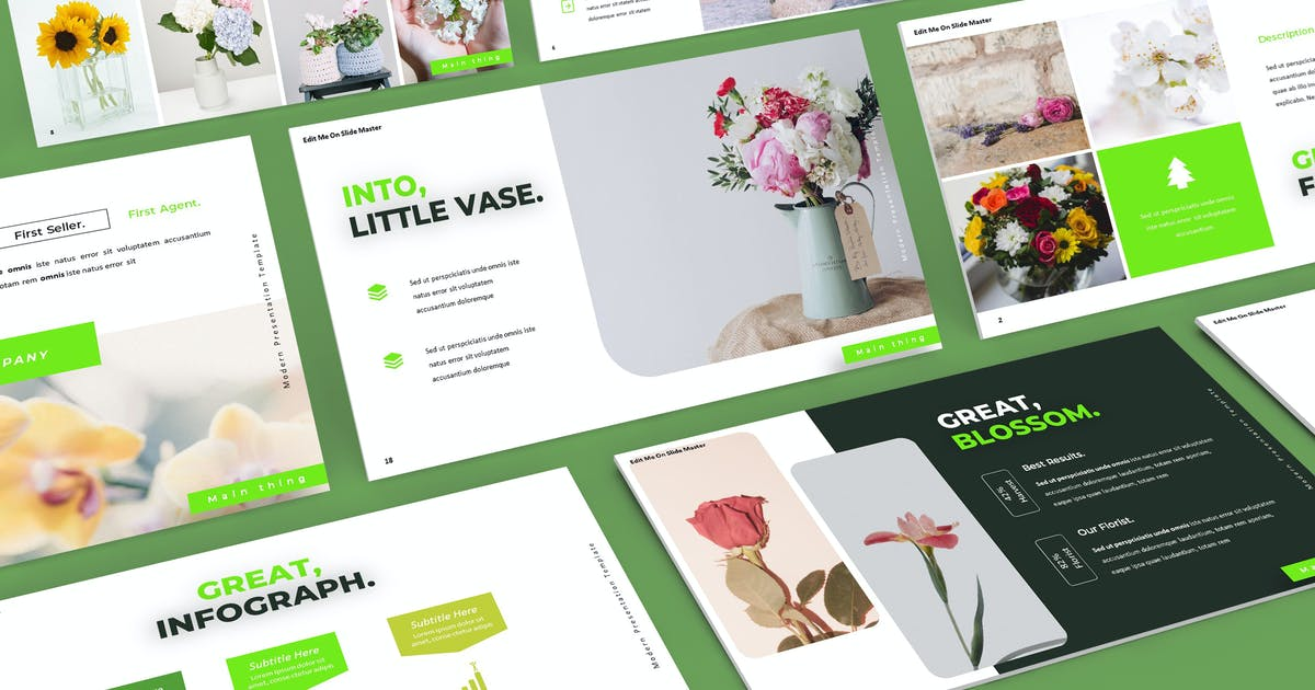 Download Florist - Powerpoint Template by aqrstudio
