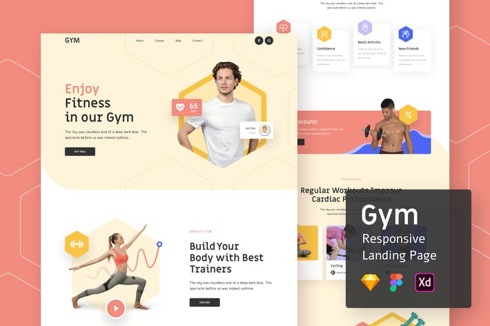 Thumbnail for Gym Responsive Landing Page