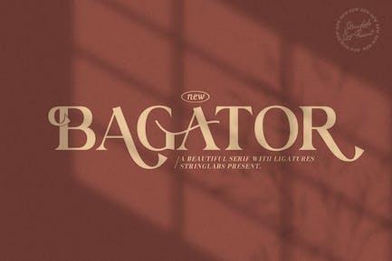 Bagator - Fuente clásica Con serifa