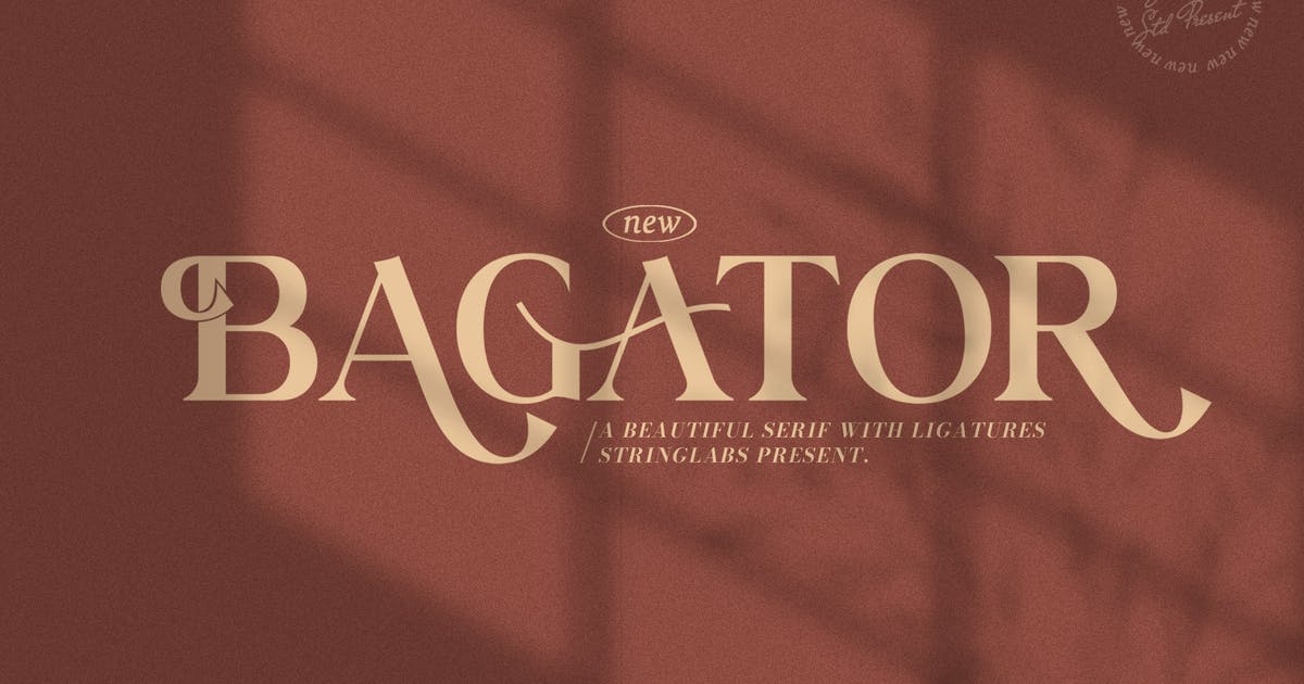 Download Bagator - Classic Serif Font by StringLabs