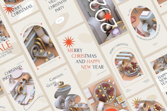 Thumbnail for Pack de Medios Sociales de Navidad
