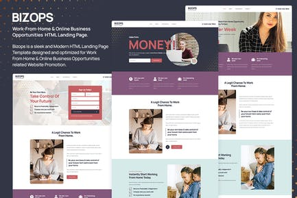 Bizops - Online Work From Home HTML Landing Page