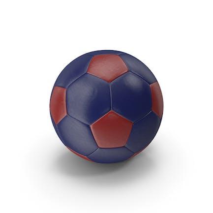 Realistische Leder-Fußball Rot Blau