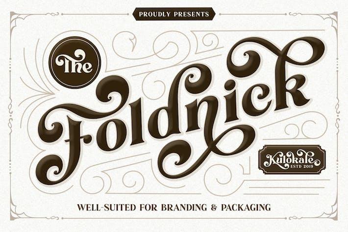 Thumbnail for The Foldnick - Fuente Con serifa Vintage
