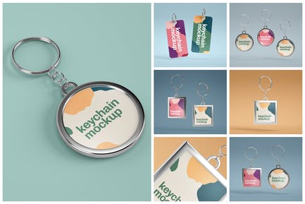 Keychain Mockup Set