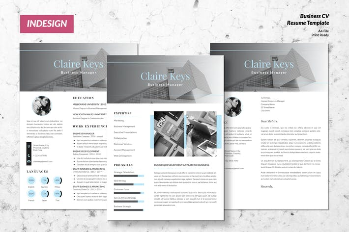 Cover Image For Business Director CV Resume Template Vol. 51