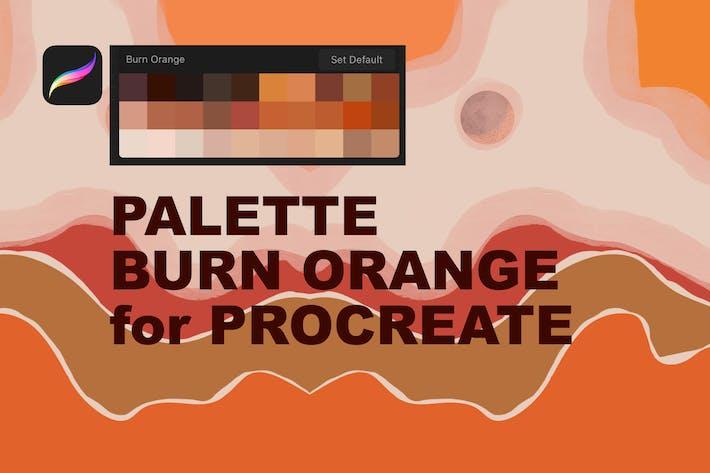 Thumbnail for Paleta Burn Orange para Procreate