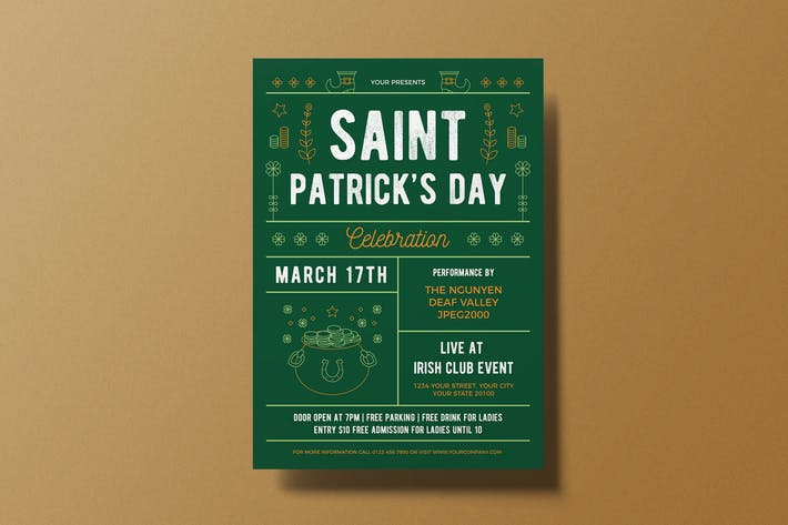 Dépliant de la Saint-Patrick