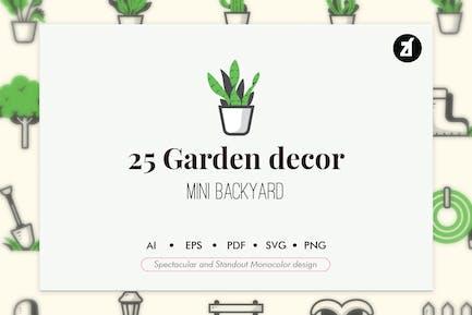 25 Garden elements in monocolor design