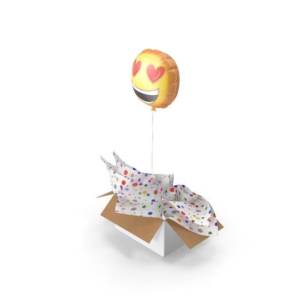 Caja de regalo de globo sonriente