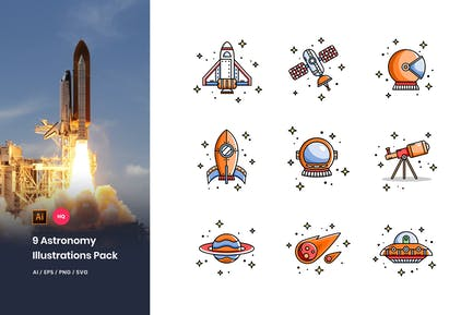Astronomy Illustrations Pack