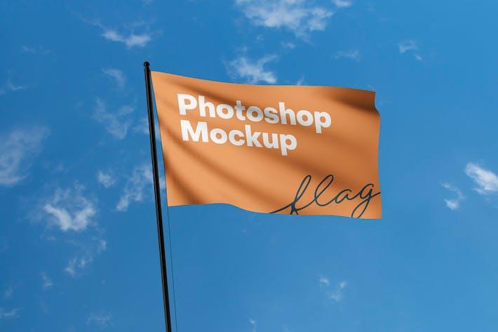 Flag Photoshop Mockup
