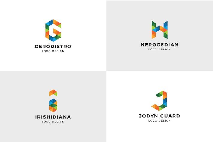 Thumbnail for Alphabet Logo Template ( G, H, I, J )