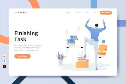 Finishing Task - Landing Page