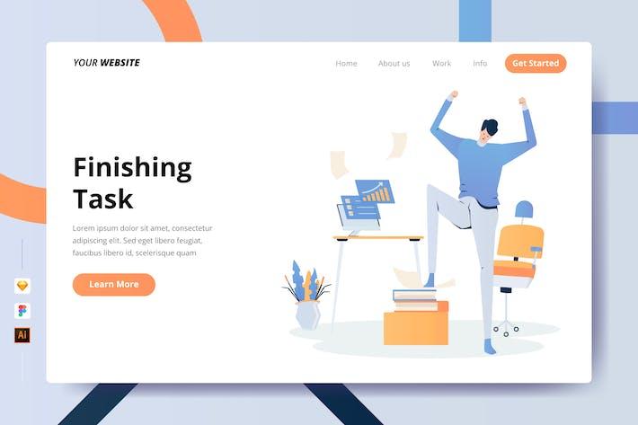 Thumbnail for Finishing Task - Landing Page