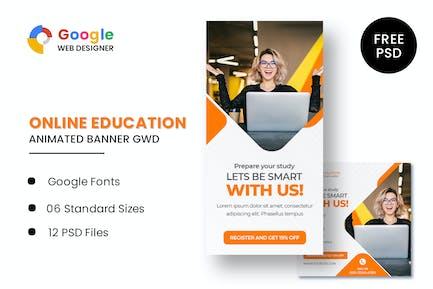 Education Animated Banner GWD