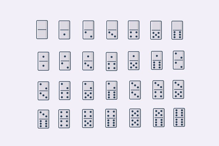 Thumbnail for 28 Domino Icons