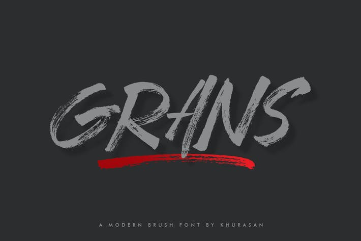 Thumbnail for Grans Brush Font